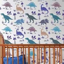 Dinosaurs Allover Stencil - Reusable Stencils for Walls - DIY Home Decor