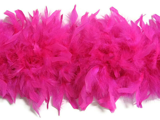 2 Yard Chandell Feather Boa with Tinsel  Kid Feather Boa Feather Trim Pink White