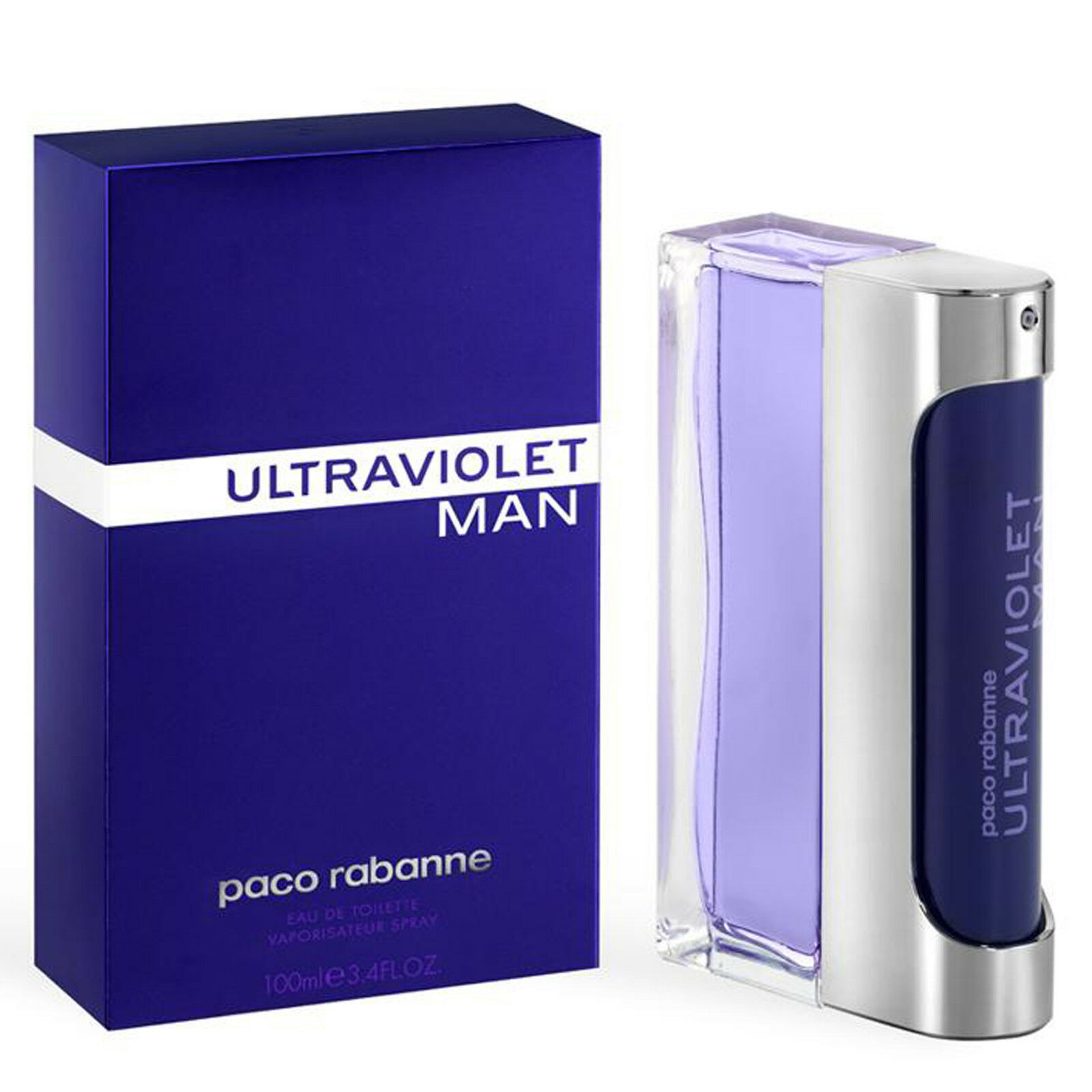Detalles de ULTRAVIOLET MAN de PACO RABANNE Colonia Perfume EDT 100 mL for Him
