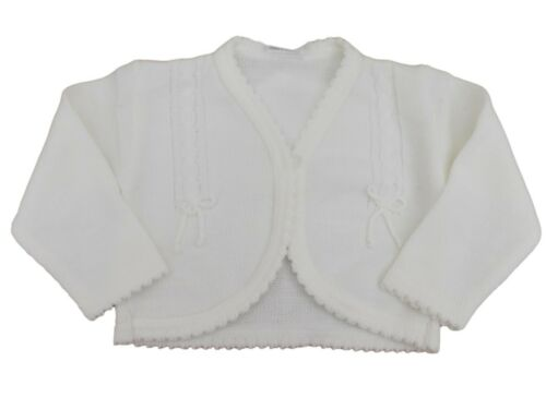 BNWT Baby girls pink or white knitted cardigan bolero 6-12m 12-18m 18-24 months