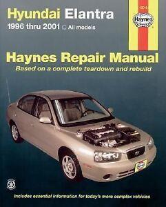 1996 2001 haynes hyundai elantra repair manual 9781563924514 ebay rh ebay com 2002 Hyundai Elantra Clutch Replacement 2001 Hyundai Elantra GLS