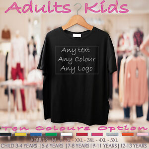 Personalised-Adults-and-Kids-Tee-T-Shirt-Your-Colour-Your-Image-or-Logo-Stag-Hen