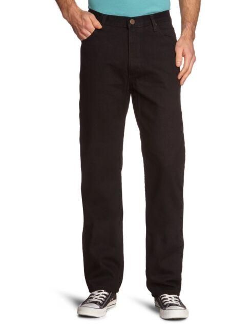 Lee Brooklyn Jeans Black Washed Men's New Regular Comfort Fit Denim
