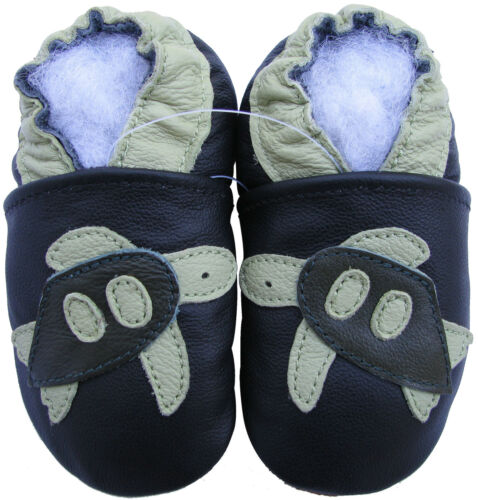 carozoo sea turtle black new 0-6m soft sole leather baby shoes