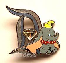 Disney 3D Pin 60th Anniversary Diamond Letter D DUMBO 3 of 12 Pin LE of 3000