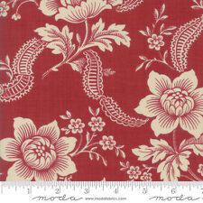 MODA Fabric ~ PONDICHERRY ~ by French General (13780 16) Indian Red - by 1/2 yd