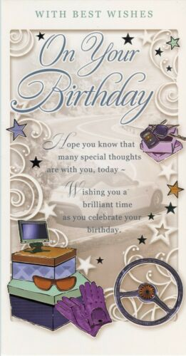 TALL MALE RELATION AND OPEN BIRTHDAY CARDS WITH GREAT VERSES 1ST P/&P