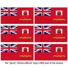 GIBRALTAR Zivil Fähnrich Fahne, Flagge Handy Mini-Aufkleber, Sticker 40mm x6