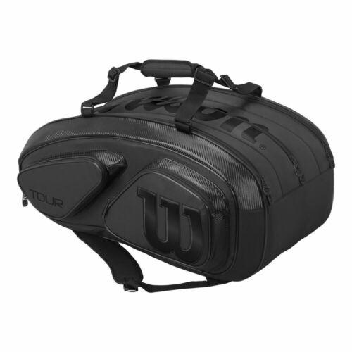 Wilson Tour V 15 Pack Schlägertasche Schwarz Neu