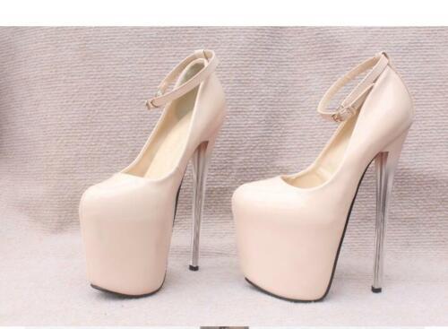 cuir discothèque pour à femmes chaussures en à de la cheville verni à Chaussures talon haut bride vqFUYaI