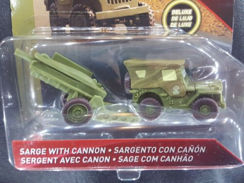 DISNEY PIXAR CARS SARGE WITH HOWITZER CANNON RADIATOR DELUXE 2018 SAVE 6/% GMC