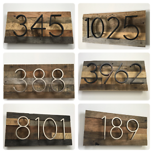 d0c1679877d2 Image is loading Custom-Rustic-Address-Plaque-House-Numbers-Address-Sign-