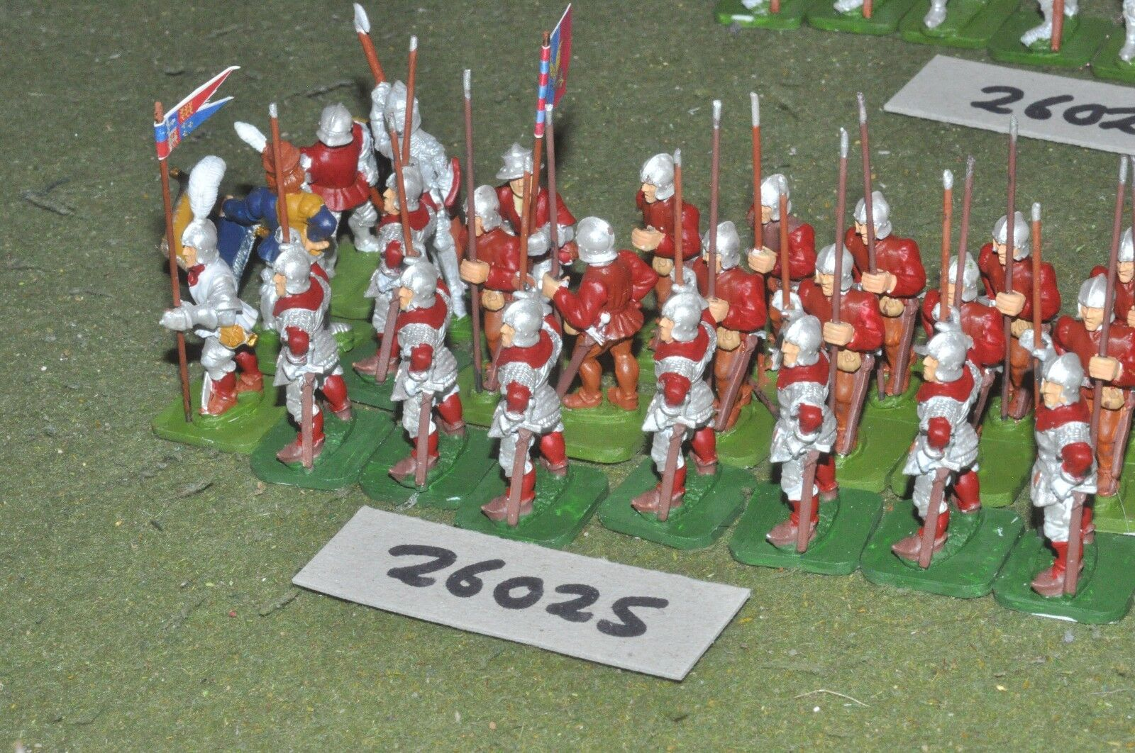 25mm medieval   english - spearmen 24 figures - inf (26025)