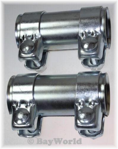 2 St Auspuff Universal V2A Rohrverbinder Edelstahl 56 x 125 mm Doppelschelle VW