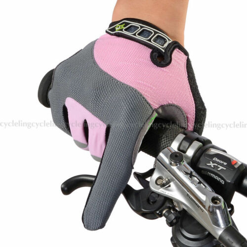 ROCKBROS Full Finger Bike Cycling Gloves Touch Screen For Smartphone Pink