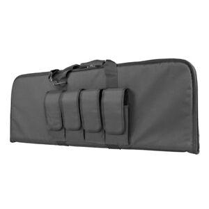 NcStar-Vism-CVCP2960U-GRAY-36-034-Padded-Lockable-Subgun-Rifle-Gun-Case-Mag-Pouch