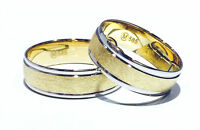 2 x 585 Trauringe Gelbgold Verlobungsringe Partnerringe GOLD Weißgold Bicolor