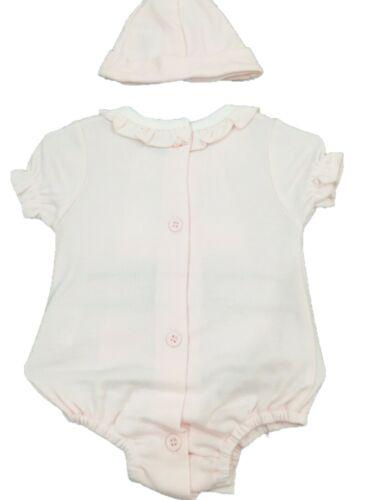6 Months Baby Girls Bunny Rabbit Spanish Style Romper /& Hat Set Newborn