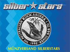 1 OZ Silber Australien Kookaburra 1992 Silver