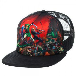 521fd40c2 Details about New Nintendo ZELDA OCARINA OF TIME Era Mesh Trucker Hat  Snapback Men's Cap COOL