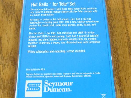 NEW Seymour Duncan Hot Rails Tele PICKUP SET STHR-1s Black for Fender Telecaster