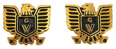 Right / Left emblem set, eagle & black GW breastplate