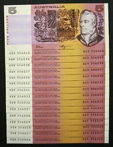 1990-Fraser-Higgins-5-Banknote-Unc-with-039-U-039-PIL