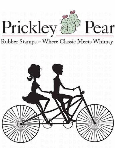 Bicycle Built For Two Cling Unmounted Rubber Stamp PRICKLEY PEAR HH0154 New
