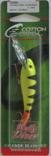 "Cotton Cordell  Wally Diver - 2-1//2/"" 1//4 oz Yellow Perch"