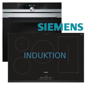 Dettagli su Siemens Herdset monastica fornello forno + Piano cottura  induzione 80cm Touch Lider NUOVO- mostra il titolo originale