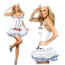 Señoras Mujer Marinero Naval uniforme Fancy Dress Costume señoras Marinero Disfraz 10