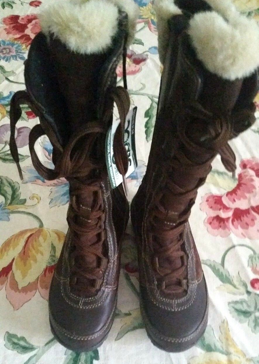 NWT Merrell Size 5 5 5 Brown Lace up Mid-calf Boot with Fur 1036c5