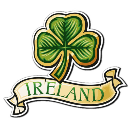 2 x brillant autocollants en vinyle-Irlande Trèfle Lucky irlandais iPad Portable Decal # 4031