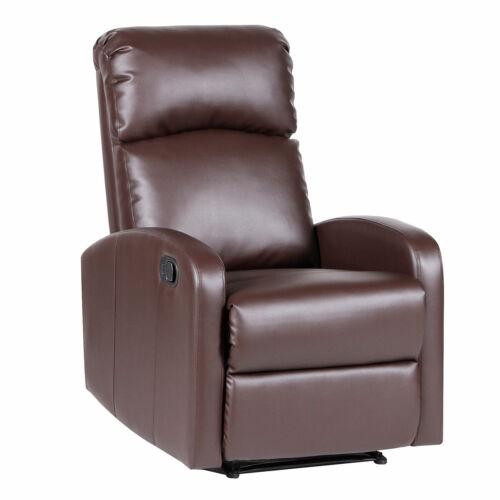 Svita Relax fauteuil marron fauteuil télé confortable beinablage Couchage Fonction Cuir Synthétique