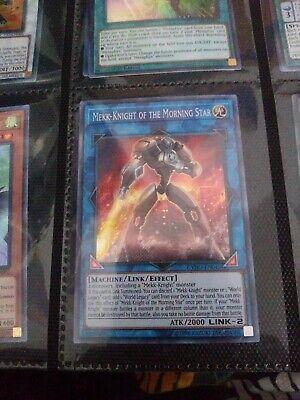 YuGiOh Mekk-Knight of the Morning Star Secret Rare 1st Edition CYHO-EN045 NM