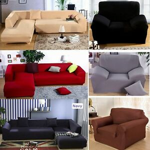 Image is loading L-Shape-Sectional-Couch-Protect-Slipcover-Stretch-Elastic- 6f9dbac4fd