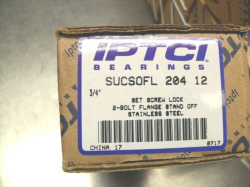 "IPTCI SUCSOFL 204 12 Stand Off, Stainless Steel, 2Bolt Flange, 34"" bore NIB"