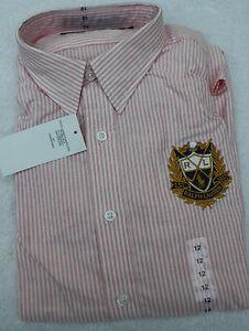 Neuware Bluse rosa Sport 14 Gr Lauren Oxford Ralph weiß Us 44 TnTvrCq6xw