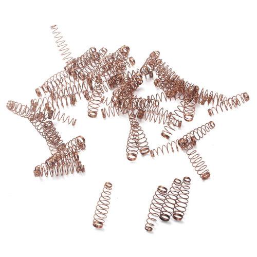 90x Bronze Kupferbuchse Drahtfeder Schraubenfeder Ersatz für Klavier