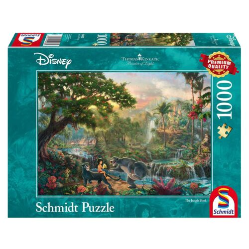 Thomas Kinkade-Disney /'s livre de la jungle-Schmidt Puzzle 59473-1000 pc.