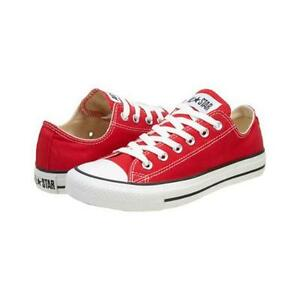 92a09ea53aec NEW Converse All Star Ox CT Low Red Canvas Deck Shoe Trainers UK ...