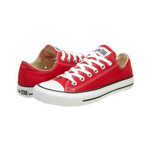 NEUF CONVERSE ALL STAR OX CT Bas rouge bateau toile Baskets taille UK 3 4 5 6 8 CQ3UdfxPwb