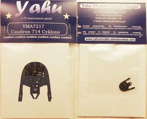 Yahu Models YMA7217 1//72 PE CAUDRON CR.714 cyklone Instrument Panel RS Models