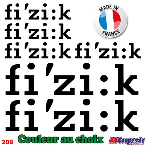6 Stickers FI/'ZI:K 209 Autocollants Adhésifs Fizik Cadre Velo Bike Selle