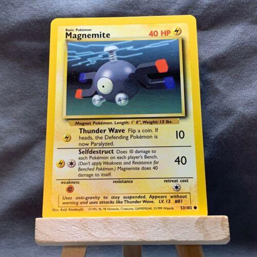 Conjunto De Base MAGNEMITE 53//102 Pokemon Card-Comum-Edição Ilimitada-Quase perfeito