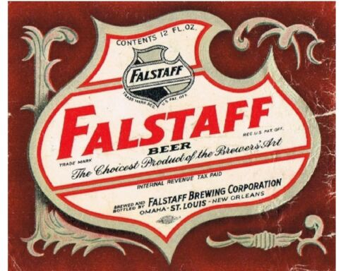 Falstaff Beer Label 1940/'s  Refrigerator Tool Box  Magnet Man Cave