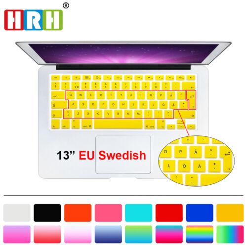 Swedish Silicone EU Keyboard Cover Skin Film For Macbook Pro Air Retian 13 15 17
