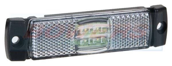 12v 24v Slim-line White Led Front Marker Position Lamp Light Truck Lorry Trailer We Nemen Klanten Als Onze Goden