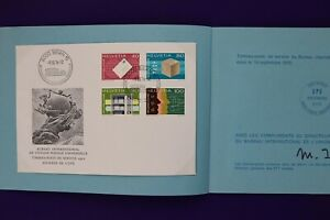 Switzerland-1976-UPU-set-FDC-Mint-used-block-booklet-collection-lp10-lp13