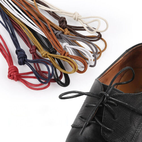 Round Waxed Dress Shoelaces Leather Shoes Strings Boot Shoe Laces Cord P